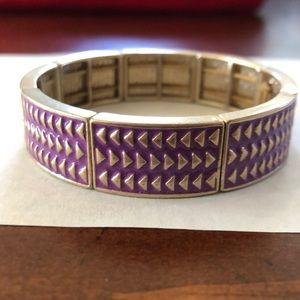 Stretch purple and gold bracelet